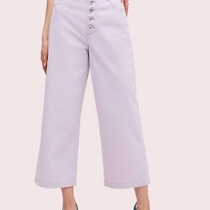 Kate spade lilac button front jeans